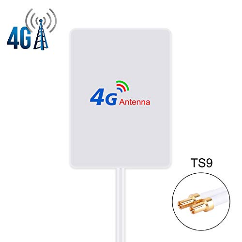 4G LTE Antenne 15dBi TS9 Stecker(Male) Dual Mimo TS9 Antenna Booster mit 2m Kabel für 4G LTE WiFi Router Mobiles Hotspots Huawei Huawei E5786 E5372, Vodafone, Telekom Speedport LTE