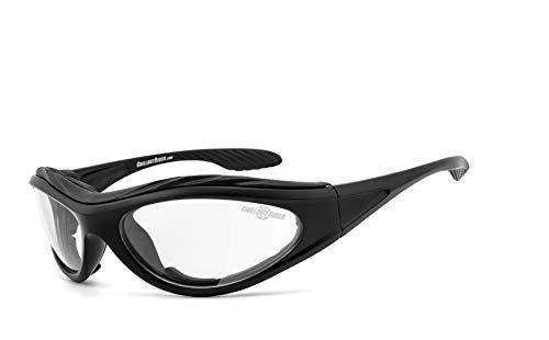 Chillout Rider   beschlagfrei, winddicht, HLT® Kunststoff-Sicherheitsglas nach DIN EN 166 Bikerbrille, Motorradbrille   schwarz, CR003-n