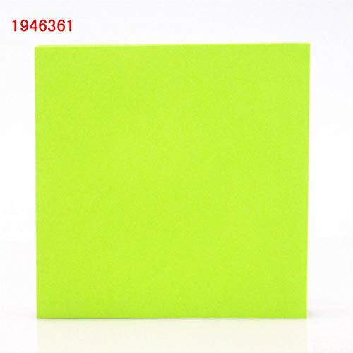 100 Vellen 1 kleur 76 * 76mm Grootte Kleur Papier Memo Pad Sticky Opmerkingen Bookmark Het Marker Memo Sticker Office School benodigdheden A1