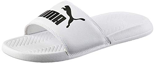 PUMA Popcat, Chanclas de Playa y Piscina Unisex Adulto, Blanco White Black, 44.5 EU
