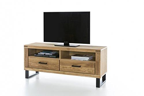 TV Board TV Kommode in Wildeiche geölt Teilmassiv Breite 138cm Höhe 60cm homeforyou24