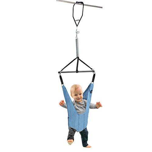 COSTWAY Baby Türhopser längenverstellbar, Tür Schaukel, Türrahmen Jumper inkl. Türklammer, Lauflernhilfe für Kleinkinder von 6-12 Monate, blau