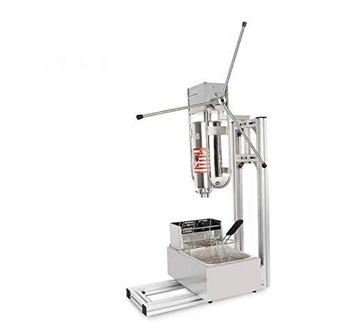 Maquina para hacer y freír churros de estilo español con soporte, capacidad de 5 L y capacidad de la freidora de 6 L, 220V a 240V