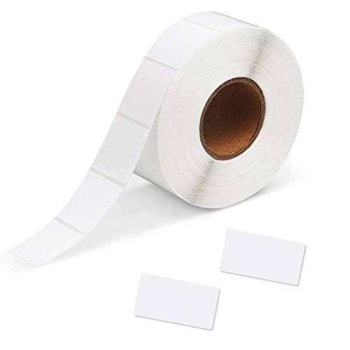 YOTINO Rollenetiketten Selbstklebend Haushaltsetiketten Datum Etiketten Preisetiketten unversal-Etiketten(30 * 60mm, 1000 Stück, weiß)
