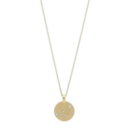 Pilgrim Jewelry Halskette mit Sternzeichen und Kristall (Versilbert - Steinbock Sternzeichen)