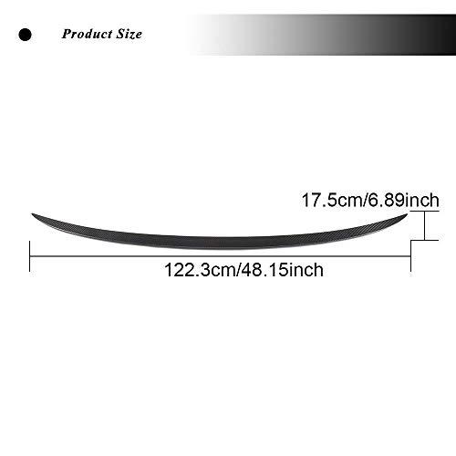 JC SPORTLINE G20 CF Rear Lip, fits BMW 3 Series 320i 330i 330e M340i 318d 320d 330d Sedan 2019-2021 Carbon Fiber Trunk Spoiler Boot Wing Deck Lid Tail