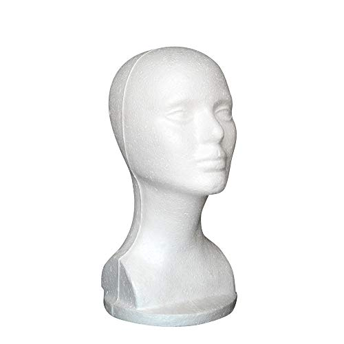 ☀ Dergo ☀Female Styrofoam Hat Glasses Hair Wig Mannequin Stand Display Head Model Chest