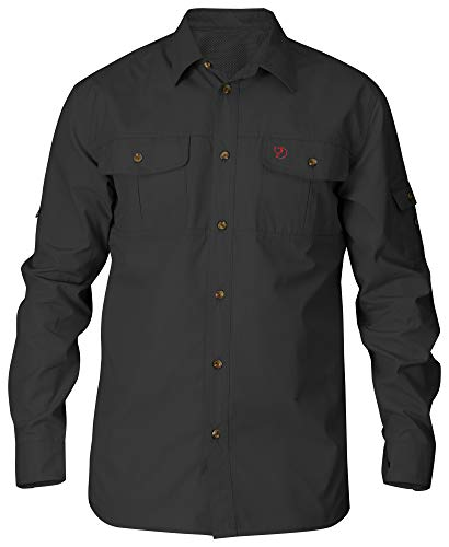 Fjallraven Herren Singi Trekking Shirt LS M Long Sleeved T, Dark Grey, L