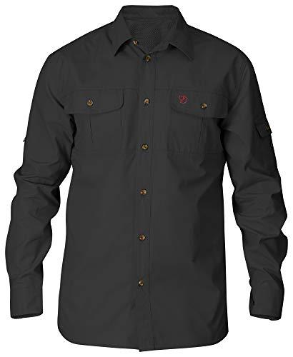 FJÄLLRÄVEN Herren Singi Langärmeliges Trekking-Hemd, Dark Grey, XL
