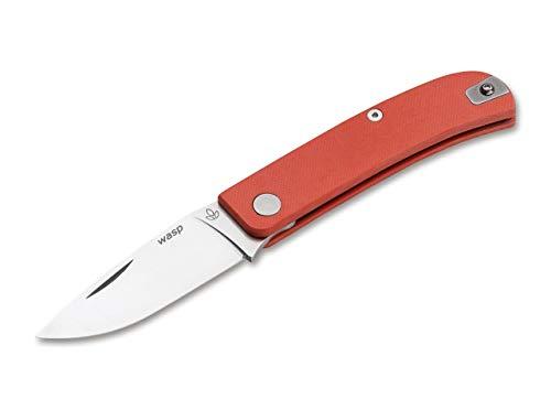 Manly Wasp Orange Taschenmesser aus pulvermetallurgischen CPM-90V und glasfaserverstärktem Kunststoff in der Farbe Orange - 17,60 cm