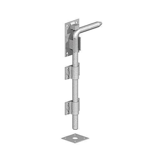Porta Garage A Tendina Bullone Zincato - 12' 18' 24' - RESISTENTE - 300mm (12')