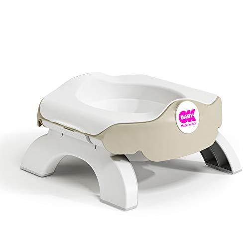 OKBABY Roady - Vasino e Riduttore WC per Bambini Pieghevole, si Usa anche in Viaggio - Grigio