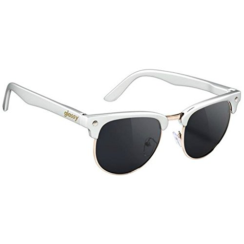 GlassY Morrison Sunhater Sunglasses White/Gold