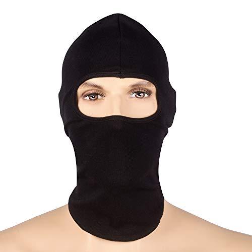 Texas FRC – Herren Feuerfeste Vollgesichtsmaske – HRC 2–100 % Baumwolle, leicht, Maske für das komplette Gesicht, schwarz, schwarz, One Size