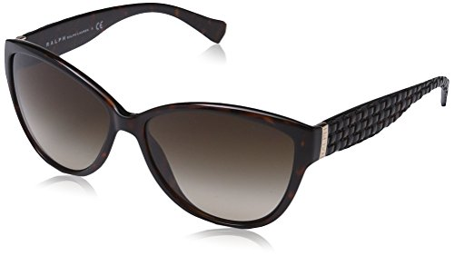 Ralph Damen RA 5176 Essential Ralph Plaque Cateye Sonnenbrille, 50213, Tortoise, Brown Smoky Grad