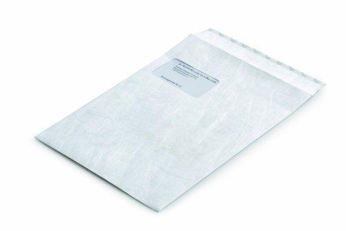 Tyvek 00067176 Versandtasche C4 (229x324 mm), weiß, mit Fenster, haftklebend, 20 Stück