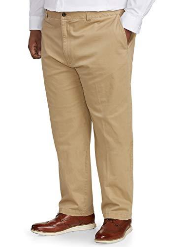 Amazon Essentials Men's Big & Tall Relaxed-fit Casual Stretch Khaki Pant fit by DXL, Dark, 50W x 30L