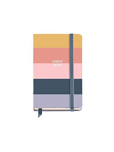 Miquelrius – Cuaderno Tapa Dura – Tamaño 90 x 140 mm, 100 Hojas Blancas, Cierre con Goma, Color Rosa, Diseño Wish