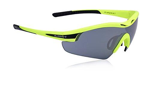 Swiss Eye Sportbrille Novena, neon yellow matt/black, S