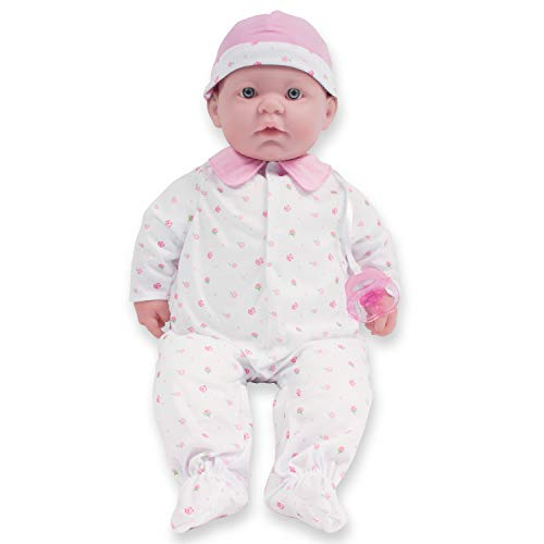Caucasian 20-inch Large Soft Body Baby Doll | JC Toys - La Baby | Washable |Removable Pink Outfit w/ Hat and Pacifier | For Children 2 Years +