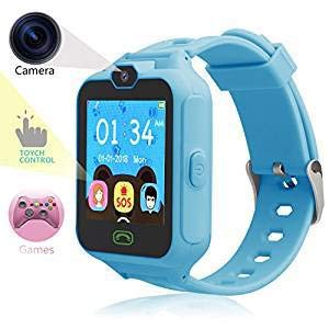 HSX_Z Phone Watch for Kids Smart Watch for Kids with Digital Camera Touch Screen, Phone Game Cool Toys Watch Gifts for Girls Boys Children Birthday Gifts Watch£Blue