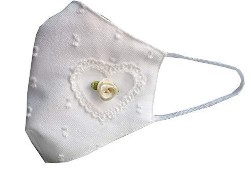 Accesorio comunión niña blanca plumeti flor color marfil y encaje