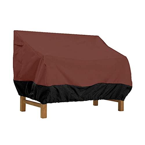 HMHMVM Garten Sofabezug, 420D Oxford Outdoor Patio Bank Möbelbezug Wasserdichter UV-Sofa Schutzbezug Langer Stuhlbezug