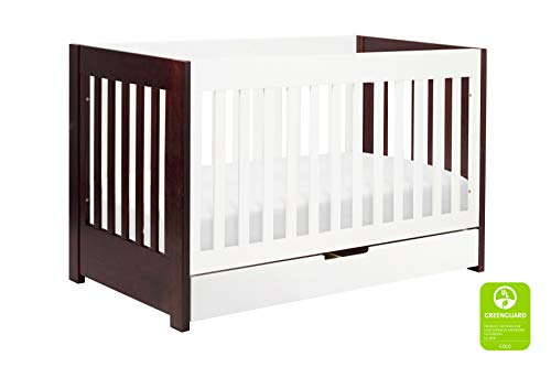 Hot Sale babyletto Mercer 3-in-1 Convertible Crib with Toddler Rail, Two Tone