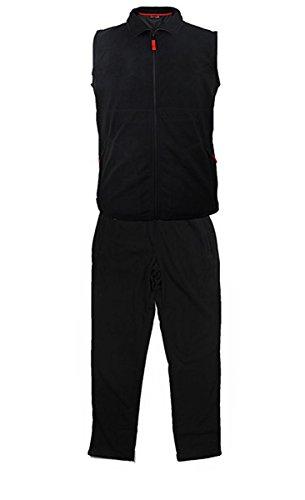 Echte grote maten knuffelig fleece joggingpak Mark & Mark zwart 3XL - 10XL
