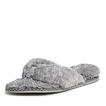 Dearfoams Women s Marie faux fur Thong Slipper