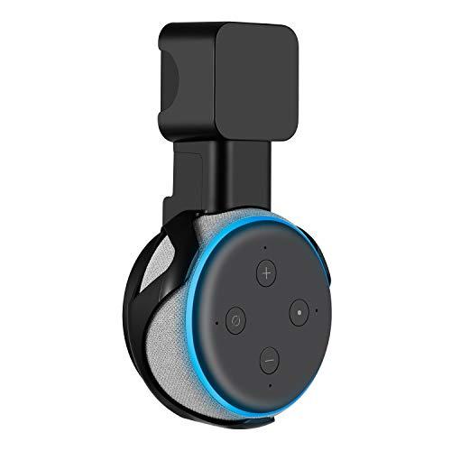 Sonomo Halterung Wandhalterung für Dot (3. Gen.), Ständer für Dot 3nd Generation Sprachgesteuerter Lautsprecher, Keine Störenden Kabel und Platzsparen - Schwarz