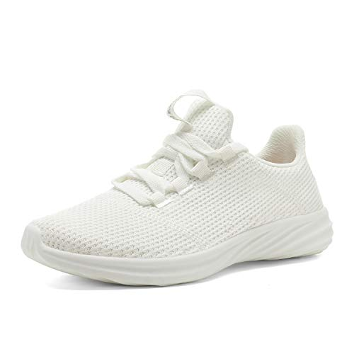 DREAM PAIRS Women's White Walking Shoes Lightweight Sneakers Size 7.5 M US DHF19001L