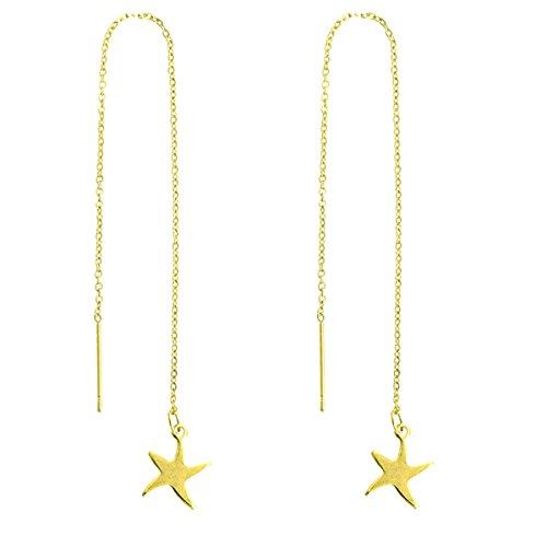 Estrella mar Estrella Chapado oro largo acero inoxidable