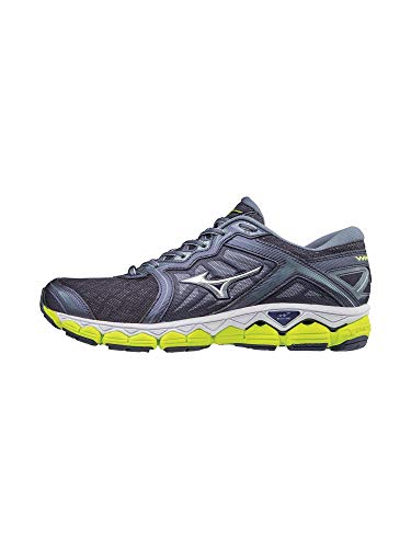 Mizuno Men's Wave Sky Running Shoes, Gray Stone - Silver, 9.5 D US