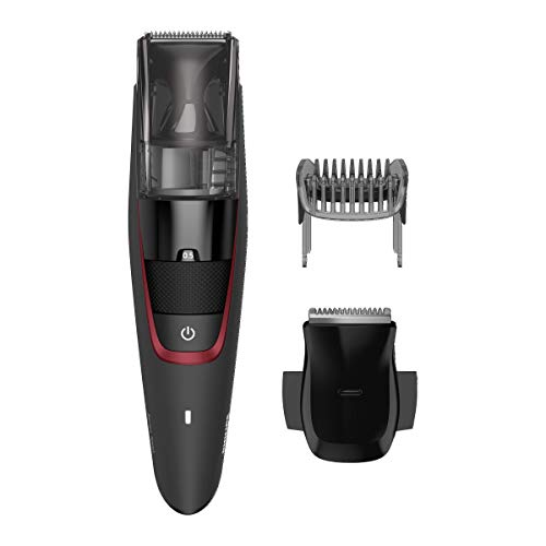 Philips BT7 BEARDTRIMMER Series 7000 Barbero con Sistema de aspiración BT7500/15, Negro, normal