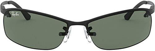 Ray-Ban 0RB3183, Gafas de sol, Negro (Marco: negro, color de la lente: verde clásico 006/71), 63 cm