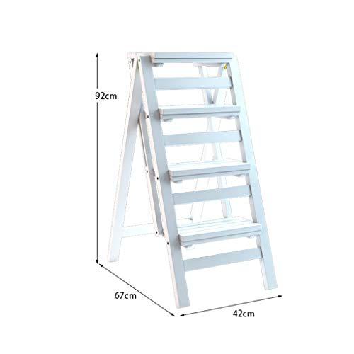Trapladder, inbouwvrij, multifunctioneel huishouden, trapschuim, gevulde, inklapbare kruk voor in het huishouden