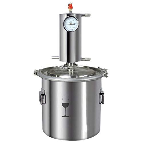 XIONGGG Acero Inoxidable Destilador, Elaboración De Cerveza Casera DIY Kit, Todavía Alcohol Ilegal De Alcohol Distiller, Elaboración del Vino Caldera Espíritus del Agua Destilador,35L