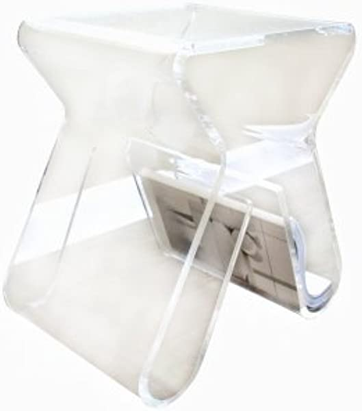 Baxton Studio Carlina Acrylic Stool End Table Clear