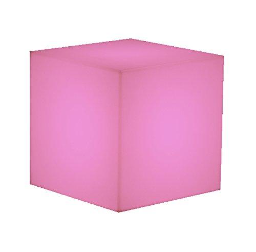 RONNIEART Cubo in plastica Fuxia Fucsia pouff Base tavolino Seduta Sedia Sgabello poggiapiedi 40x40x40 cm