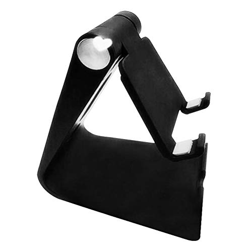 Kesio Soporte para teléfono celular de aluminio, soporte de escritorio ajustable compatible con teléfono 12 11 Pro Xs Xs Max Xr X, iPad Mini y más (negro)