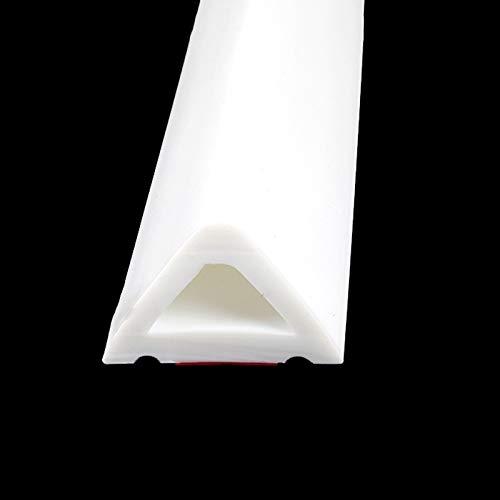 ABCCS Barrera de Silicona para baño,umbral de Ducha,Ducha Presa Agua,Evita el desbordamiento de Agua,Barrera de Ducha y Sistema de retención,Tira Impermeable autoadhesiva y Flexible,(Blanco,100 cm)
