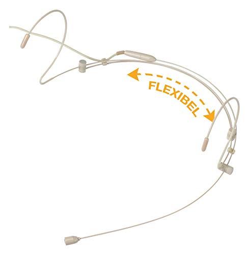Pronomic HS-31 EA Headset Zwei-Ohr, beige (Back-Elektret Kondensator, Richtcharakteristik: Kugel, Frequenzgang: 20-20.000Hz)