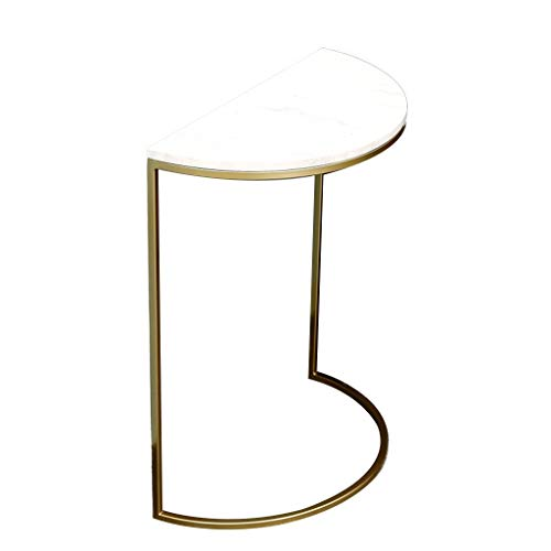 A-Yan-Q-Home Office Furniture Metal Sofa Table, Creativity Flower Stand for Living Room Balcony Bedroom Corner Table Small Apartment Console Table Pedestal Tables ( Color : White , Size : 50*25*60CM )