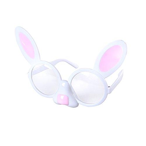 LUOEM Bunny Brille Lustige Partybrillen für Karneval Fasching Ostern Pary Kostüm
