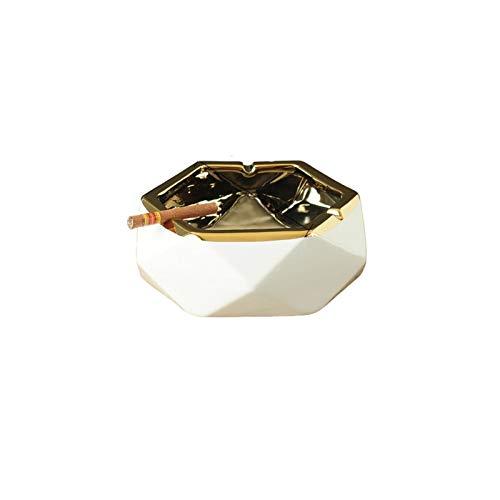 XDYNJYNL Cenicero de Diamante de Ceniza Anti-Mosca de Gran Calibre, portátil, Antideslizante y Material de cerámica Lavable con Agua, Adecuado para Almacenamiento de Escritorio, Dormitorio, Oficina y