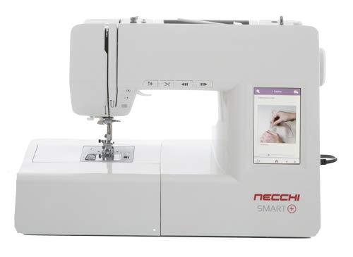 Necchi H72B3 - Máquina de coser, interior de fundición a presión, de aluminio, carcasa de ABS, blanco, normal