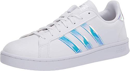 adidas Women's Grand Court Sneaker, ftwr White/Silver met./silver Met, 8 M US