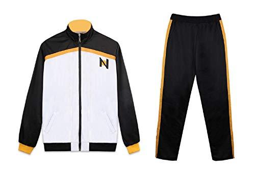 BellaPunk Damen Herren Reißverschluss Jacken Anime Zero Life in World Cosplay Kostüm Subaru Natsuki Sportswear Uniform (Suit, L)