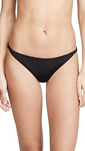 Tori Praver Swimwear Women's Marlowe Rib Classic Bikini Bottoms, Black, Large